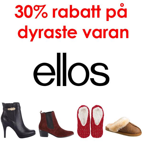 30% rabatt på billigaste varan hos Ellos med rabattkod